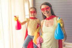 Super matka i córka zdjęcie royalty free