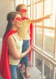 Super matka i córka obraz stock