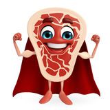 Super Meat steak character Royalty Free Stock Images