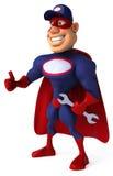 Super mechanic. Cool superhero ready to defend the world Stock Photos