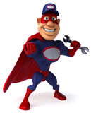 Super mechanic. Cool superhero ready to defend the world Stock Images