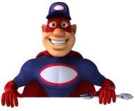 Super mechanic. Cool superhero ready to defend the world Stock Photo