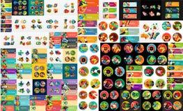 Super Mega- Satz der abstrakten geometrischen Papiergraphik Stockfoto