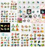 Super mega set of abstract geometric paper graphic Stock Photography
