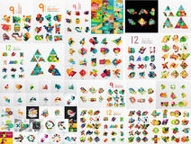 Super mega set of abstract geometric paper graphic Stock Photo