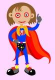 Super meisje met omhoog duimen Royalty-vrije Stock Foto's