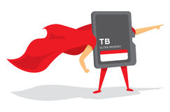 Super memory card hero saving the day Stock Images