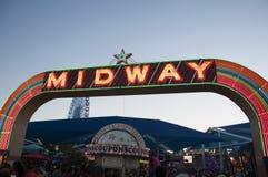 Super Midway znak przy Teksas stanu jarmarkiem zdjęcia stock