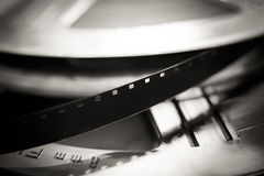 Super 8 mm film reel macro close up, movie symbol Royalty Free Stock Photography