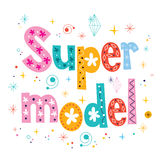 Super model decorative lettering type design Royalty Free Stock Photography