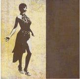 Super Model Grunge. Vector Paper Flyer royalty free illustration
