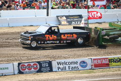Super Modified Pulling Trucks wheels in the air Royalty Free Stock Image
