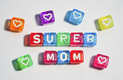 Super Mom - Happy Mother's Day Royalty Free Stock Photos
