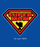 Super Mom Royalty Free Stock Photo