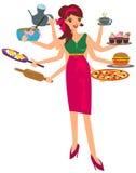 Multitasking Woman Stock Photo