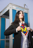 Super Momma Role Model Hero Female Character  Stock Images