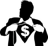Super money man Royalty Free Stock Photo