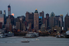 Super Moon Along the Hudson Stock Images