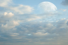 Super Moon and clouds Royalty Free Stock Image