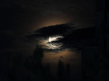 Super moon and clouds Royalty Free Stock Photo