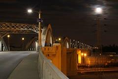 Super Moon over Bridge #1 Stock Photography