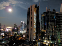 Super Moon over Panama Royalty Free Stock Photos