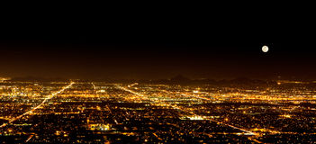 Super Moon over Phoenix Arizona Stock Images