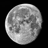 Half moon in Perigee at night sky Royalty Free Stock Photo