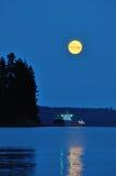 Super Moon Set at English Bay Royalty Free Stock Photo