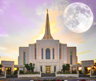 Super moon at Temple Stock Image