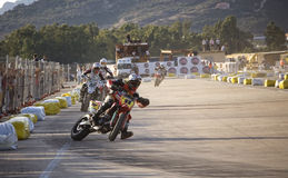 Super motard in Olbia Sardinige Royalty-vrije Stock Afbeelding