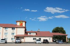 Super 8 motel Stock Images