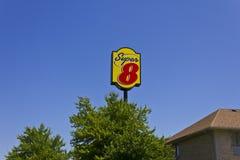 Super 8 Motel II stock afbeeldingen
