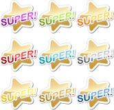 Super motivatiesticker Stock Foto