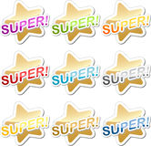 Super sticker Stock Photo