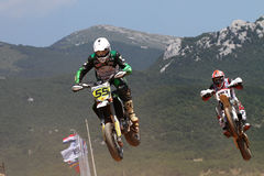 Super Moto Jump Royalty Free Stock Photo
