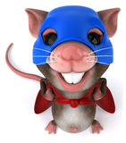 Super mouse. Fun little mouse, 3d generated picture Royalty Free Stock Photos