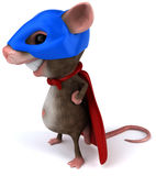 Super mouse. Fun little mouse, 3d generated picture Stock Photo