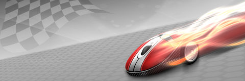 Super mouse. Quite fast and furious Stock Photos