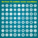 Super natural snowflakes Royalty Free Stock Images