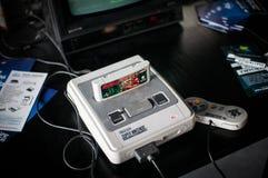 Super-Nintendo-Unterhaltungsanlage Stockfoto