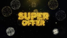Super oferta pisać złocistych cząsteczkach wybucha fajerwerku pokazu