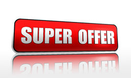 Super offer banner Royalty Free Stock Photo