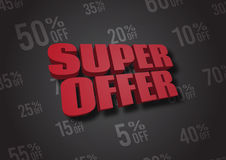 Super Offer 3D illustration Stock Images