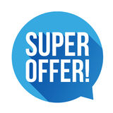 Super Offer sticker speech bubble Stock Photo