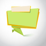 Super origami banner. Great background for your promotional posters, advertising shopping flyers, brochure or booklet and discount banners. Vector speech stock illustration