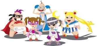 Super Pampers o herói ilustração stock