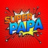 Super papa, Super Dad spanish text, father celebration Royalty Free Stock Photos
