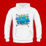 Super papa, Super Dad spanish text, Vector Graphic hoodie print design Stock Photos