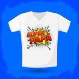 Super papa, Super Dad spanish text, Vector Graphic t shirt design Stock Image